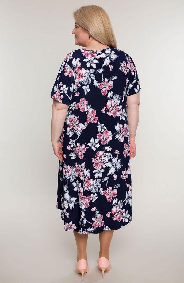 Rozkloszowana sukienka kwiatowa fascynacja