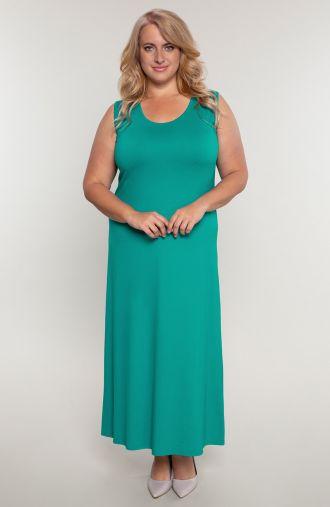 Sukienka maxi w turkusowym kolorze