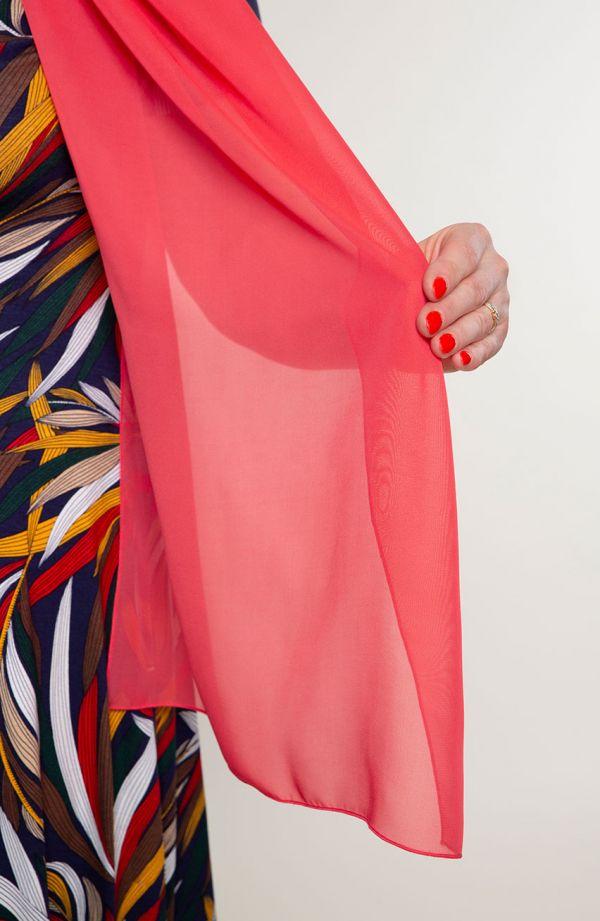 Wizytowy szal w arbuzowym kolorze 47x210