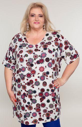 Klasyczna koszulka kwiatowe rozetki