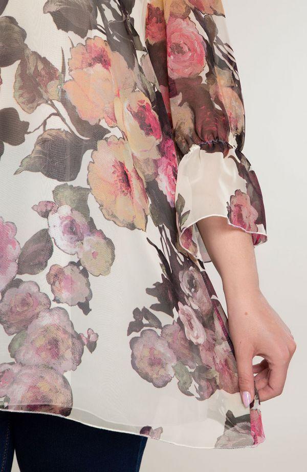 Dwuczęściowa tunika tchnienie kwiatów