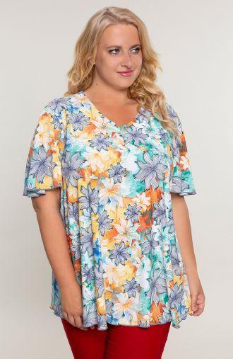Bluzka z rękawem słoneczne lato -moda plus size
