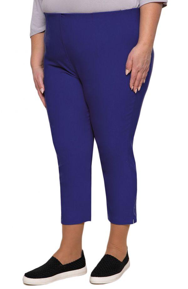 Spodnie plus sizerybaczki w chabrowym kolorze