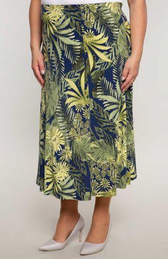 Rozkloszowana spódnica wiosenny las