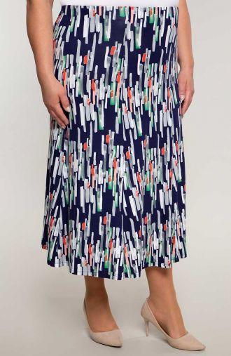 Rozkloszowana spódnica pionowe kafelki
