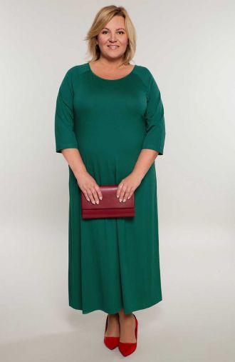 Długa sukienka w kolorze zieleni
