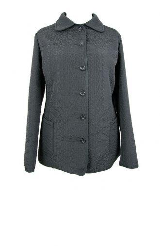 Czarna pikowana kurtka z kieszeniami