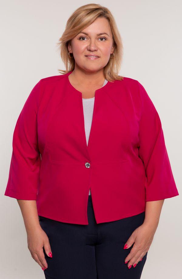 Żakiet w kolorze różowej maliny