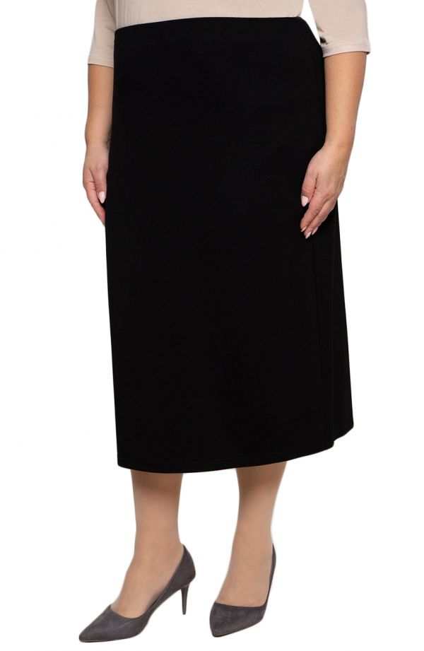 Dłuższa elegancka czarna spódnica