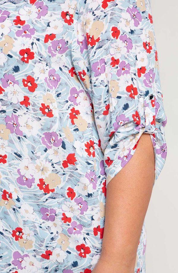 Lekka bluzka błękitna rapsodia
