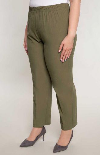 Bawełniane spodnie w oliwkowym kolorze