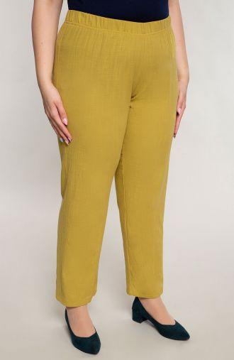Bawełniane spodnie w zielonym kolorze