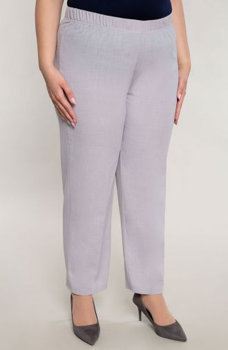 Bawełniane spodnie w szarym kolorze