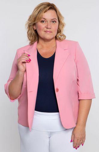 Lekki żakiet w różowym kolorze