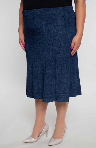 Rozkloszowana spódnica granatowy jeans