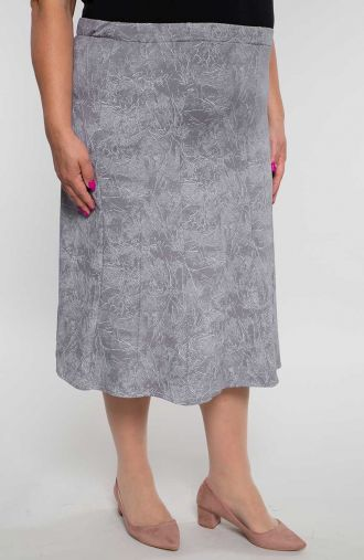 Rozkloszowana spódnica szary marmur