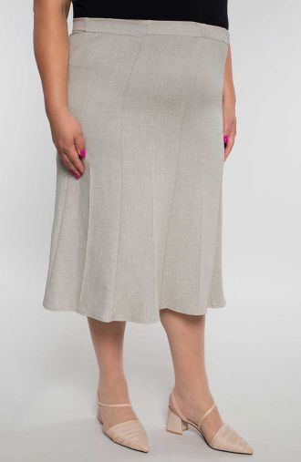 Rozkloszowana spódnica w kolorze beżu