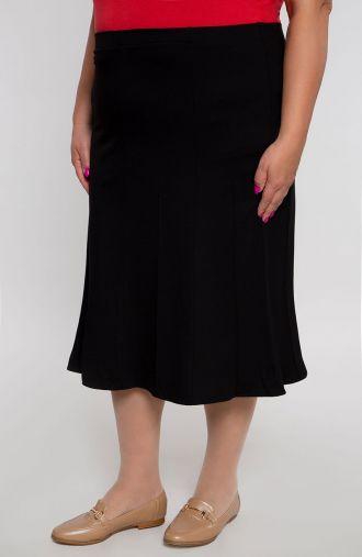 Rozkloszowana spódnica w kolorze czerni