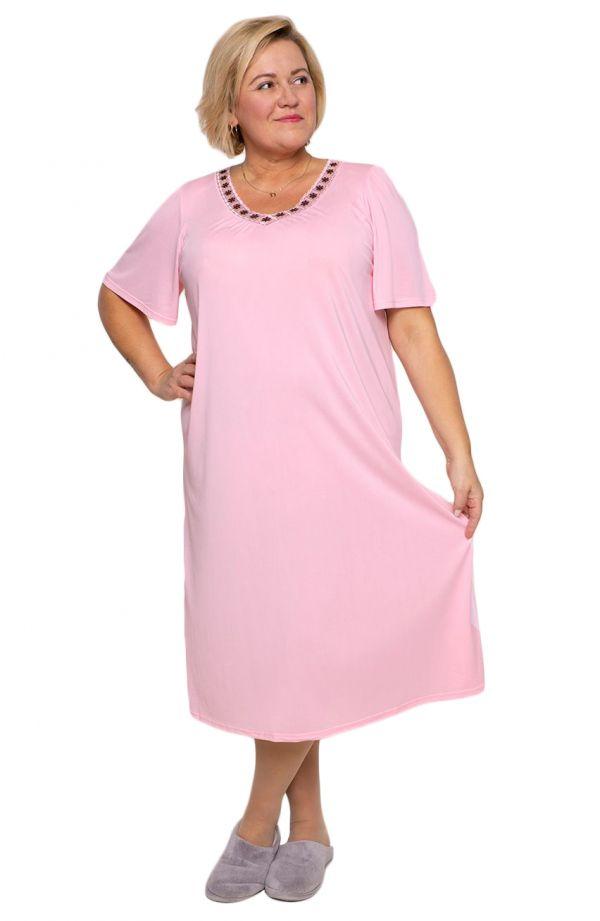 Koszula nocna w różowym odcieniu Mewa