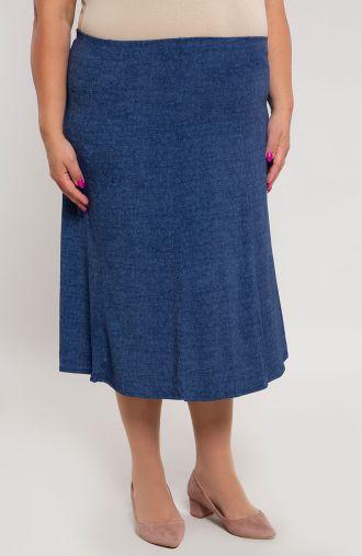Rozkloszowana spódnica niebieski jeans