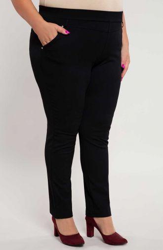 Czarne spodnie jegginsy z kieszonkami