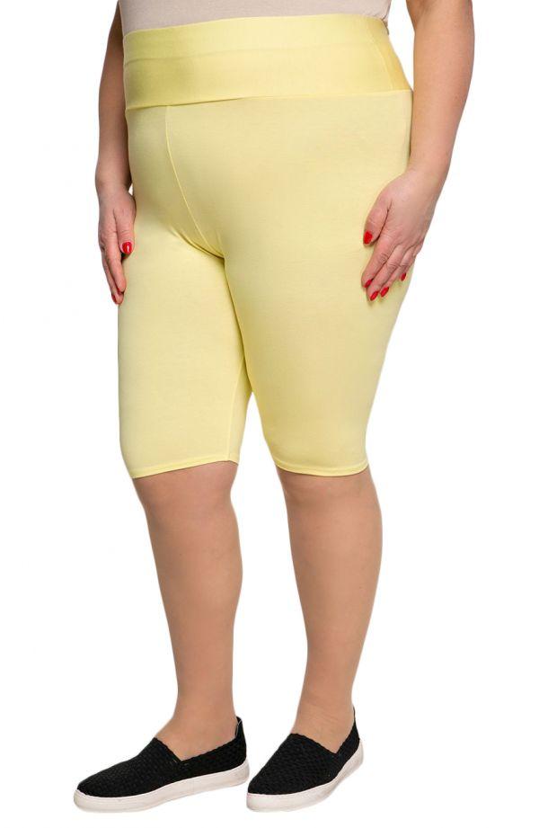 Krótkie żółte legginsy wysokim stanem