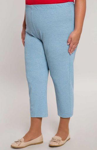 Wiskozowe legginsy 7/8 kolor jasny jeans