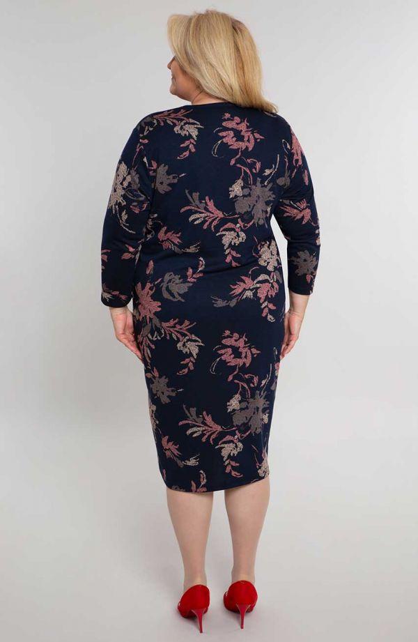 Prosta sukienka w koralowe kwiaty