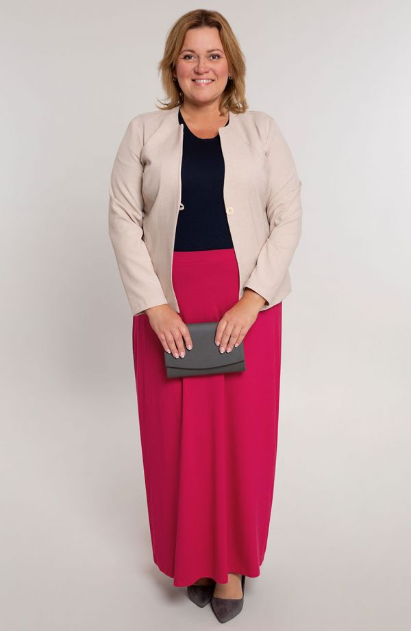 Spódnica maxi w malinowym kolorze