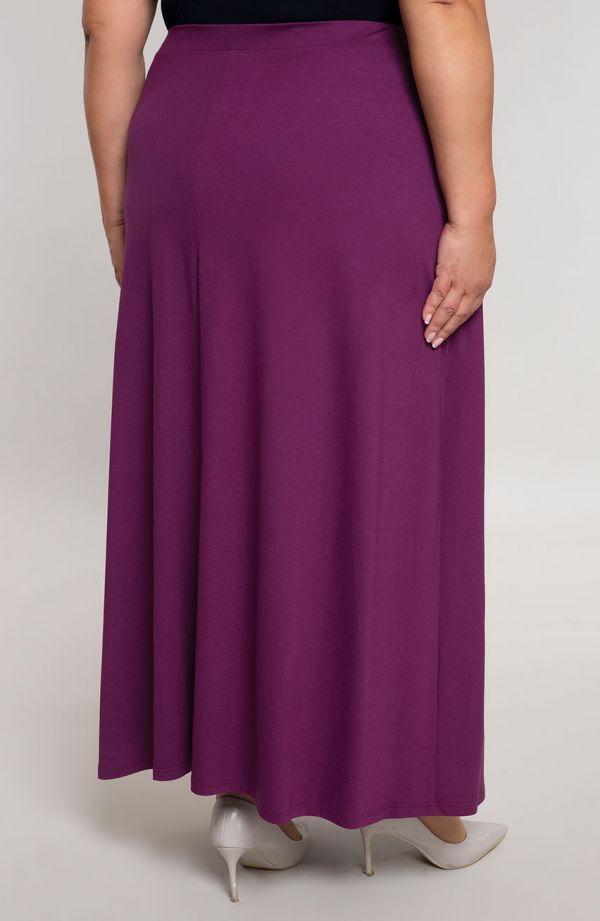 Spódnica maxi w śliwkowym kolorze