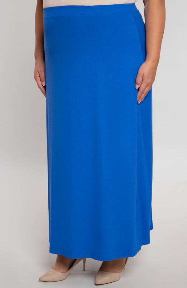 Spódnica maxi w chabrowym kolorze
