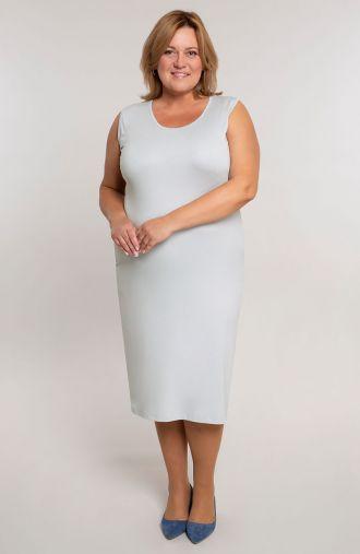 Gładka sukienka w kolorze jasnej szarości