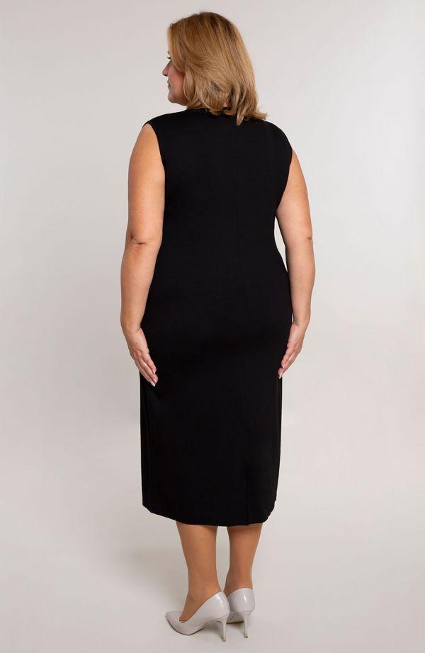 Gładka prosta sukienka w kolorze czerni