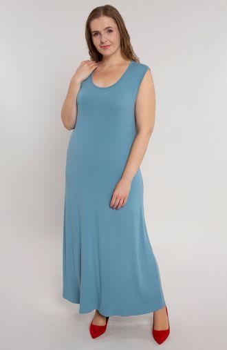 Sukienka maxi w jasnoniebieskim kolorze