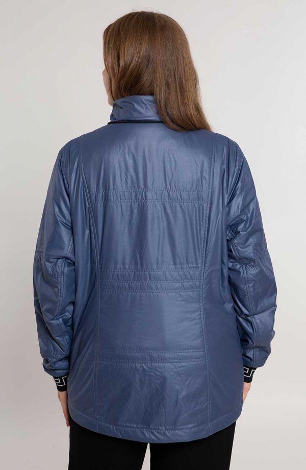 Granatowa kurtka z ozdobnym ściągaczem