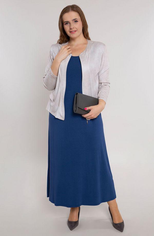 Sukienka maxi w kolorze niebieskim