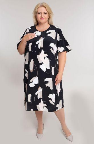 Czarna sukienka malowane farbki