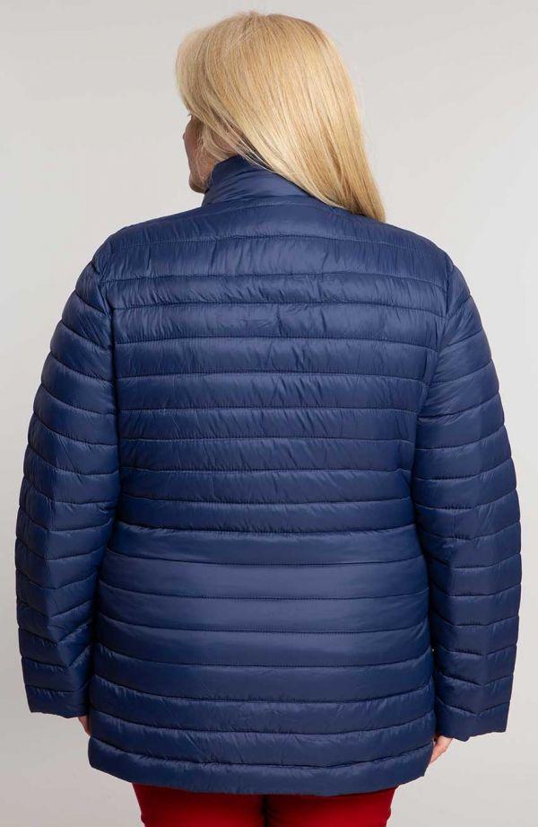 Granatowa kurtka z pikowaniem