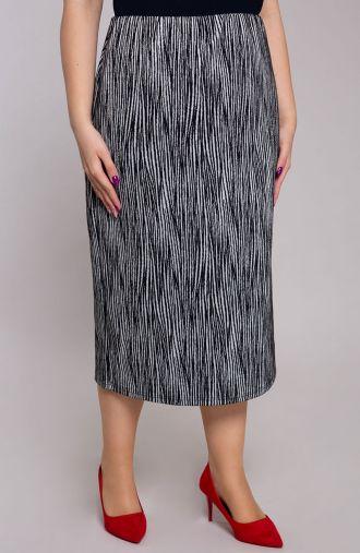 Czarna spódnica w srebrną zebrę