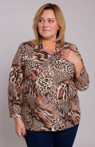 Lekka koszula w złotego tygrysa