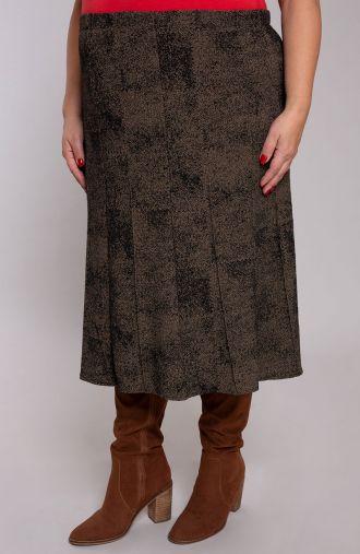 Rozkloszowana spódnica stare złoto
