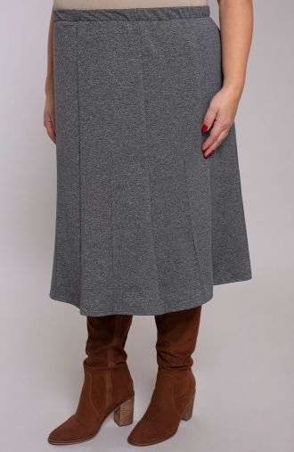 Rozkloszowana spódnica jasna szarość
