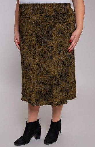 Rozkloszowana spódnica żółte złoto