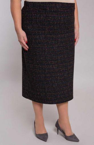 Ciepła spódnica w kolorowy brokat