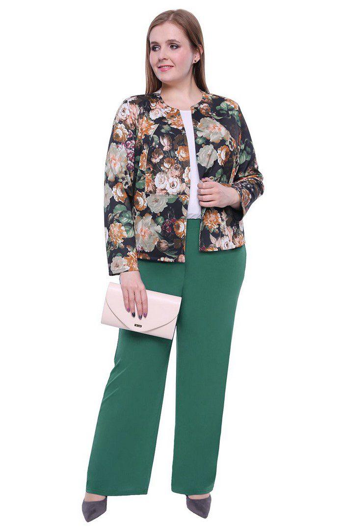 wizytowe spodnie w kolorze morskiej zieleni Modne duże